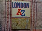 LONDON A - Z  -  MAPA LONDONA NA ENGLESKOM