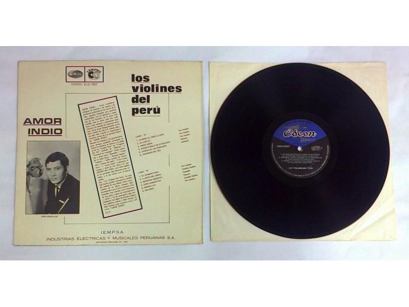 LOS VIOLINES DEL PERU - Amor Indio (LP) Made in Peru