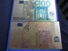 LOT pozlaćenih EURO novčanica - Fullcolor - replike