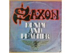 LP SAXON - Denim And Leather (1982) VG
