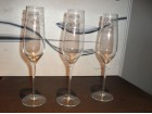 LUX  čaše za šampanjac Ručno Brušeni KRISTAL slikan