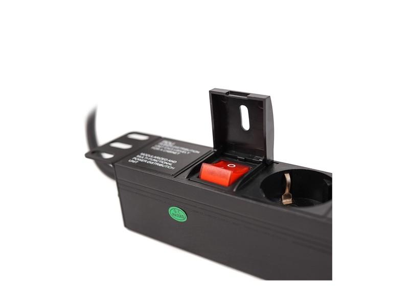 LanPlus PDU 220V LP-1U-7SCH-SH on/off sw black cover 2.0m