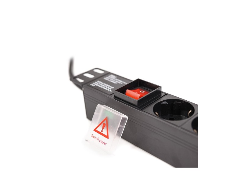 LanPlus PDU 220V LP-1U-8SCH-SH on/off sw white cover 2.0m