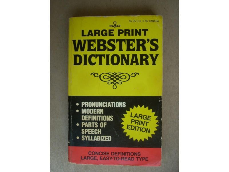 Large print WEBSTERS DICTIONARY