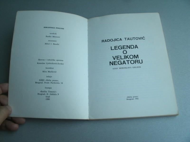 Legenda o velikom negatoru - Radojica Tautović