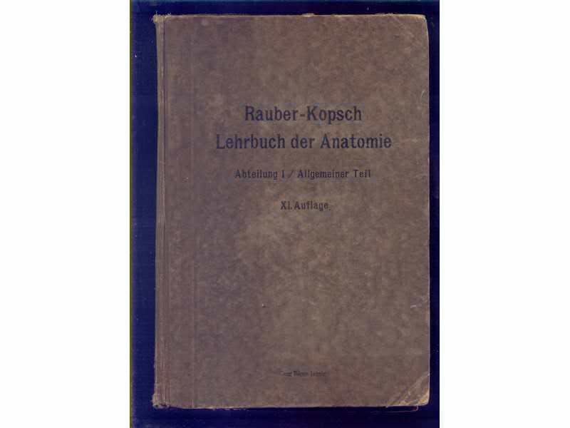 Lehrbuch der Anatomie Rauber-Kopsch