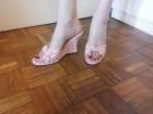 Letnje roze papuče sa punom štiklom