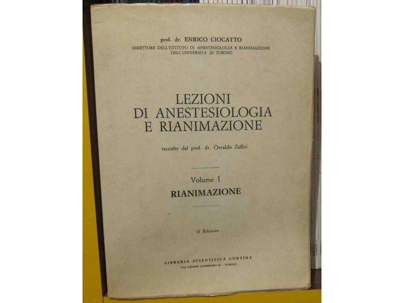 Lezioni di anestesiologia e rianimazione