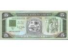 Liberia 5 Dollars 1991. aUNC/UNC.