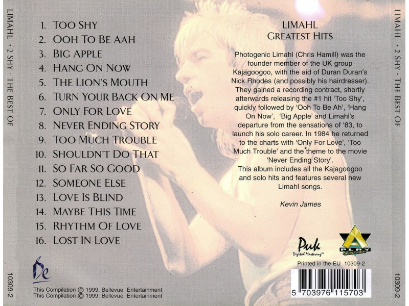 Limahl - Limahl - 2 Shy (Greatest Hits)