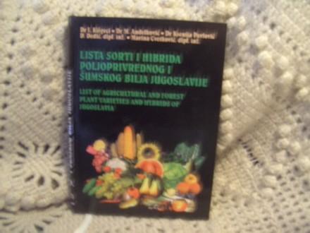 Lista sorti i hibrida poljoprivrednog i sumskog bilja J