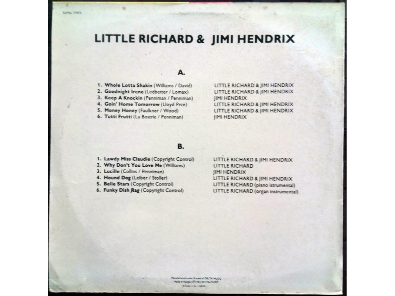 Little Richard &; Jimi Hendrix (Hungary)