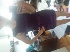 Ljubicasta haljina sa cipkom