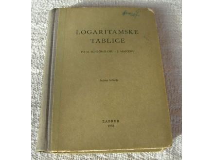Logaritamske tablice po Schlömilchu i Majcenu, 1958.