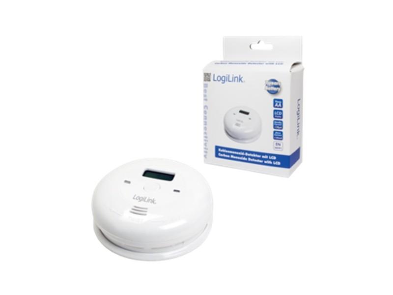 LogiLink Carbon Monoxide Detector w. LCD w. battery