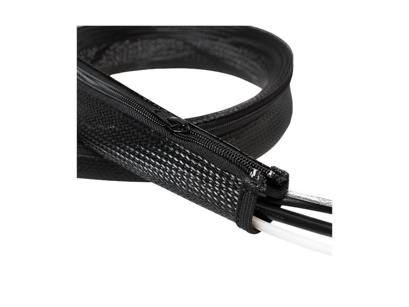 LogiLink Flexible Cable protection with Zipper 1.0m x 30mm black