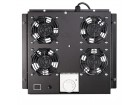 LogiLink Roof Fan Tray for Floor Standing Cabinet with 4 fans, black