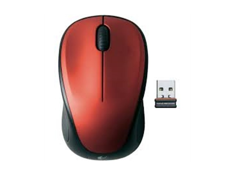 Logitech M235 Wireless Nano Receiver red