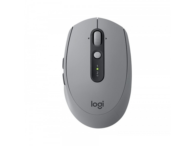 Logitech M590 Silent Wireless Mouse Mid Grey Tonal