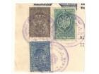 Lot taksenih maraka 1934 5, 10 i 20 din na isečku