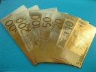 Lot zlatnih EURO novčanica 7 kom - Euro Gold Banknote