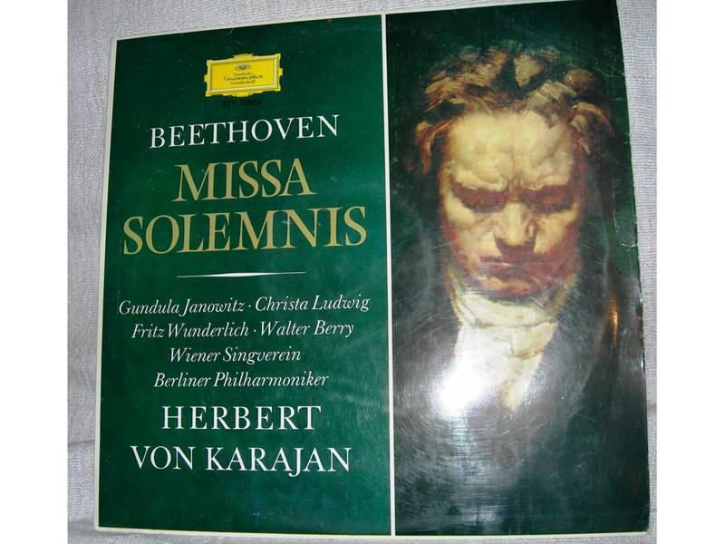 Ludwig van Beethoven, Gundula Janowitz, Christa Ludwig, Fritz Wunderlich, Walter Berry, Wiener Singverein, Berliner Philharmoniker, Herbert Von Karajan - Missa Solemnis D-Dur Op. 123