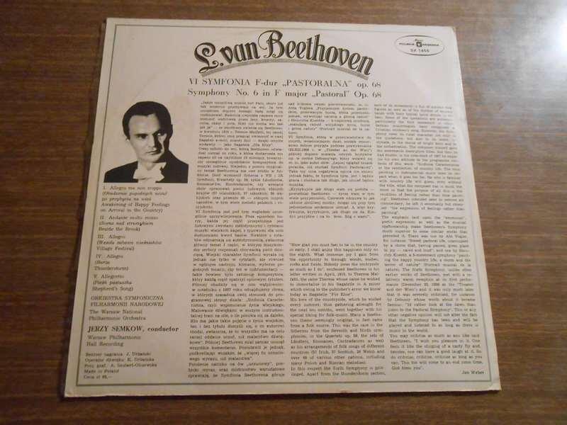 "Ludwig van Beethoven, National Warsaw Philharmonic Orchestra, The, Jerzy Semkow - VI Symfonia F-Dur ""Pastoralna"" Op. 68"