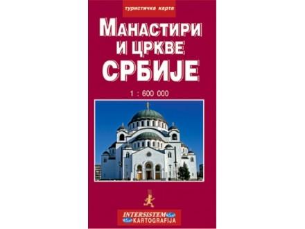 Manastiri I Crkve Srbije Turisticka Karta Grupa Autora