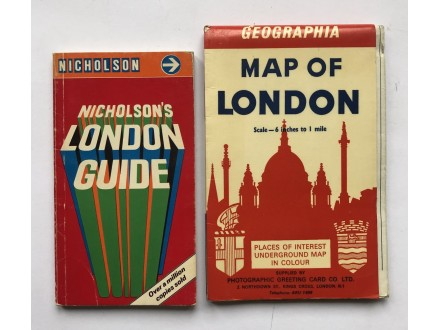MAP OF LONDON + NICHOLSON`S LONDON GUIDE