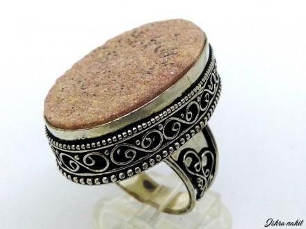 MASIVAN srebrni prsten,JASPIS,prirodan kamen,NOV