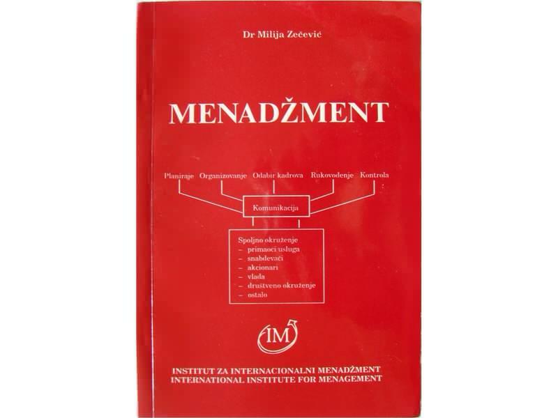MENADŽMENT - Dr Milija Zečević