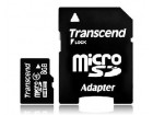 MICRO SD  8GB TRANSCEND + SD adapter TS8GUSDHC4