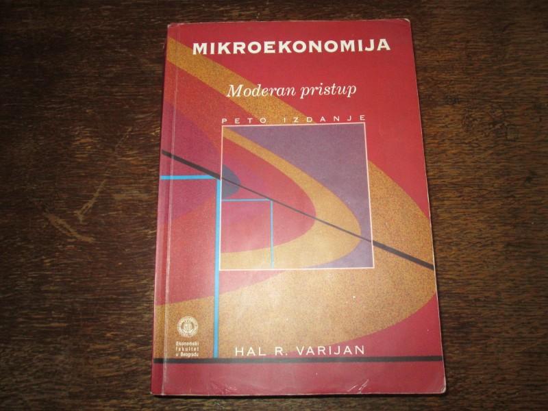 MIKROEKONOMIJA - MODERAN  PRISTUP - HAL R. VARIJAN