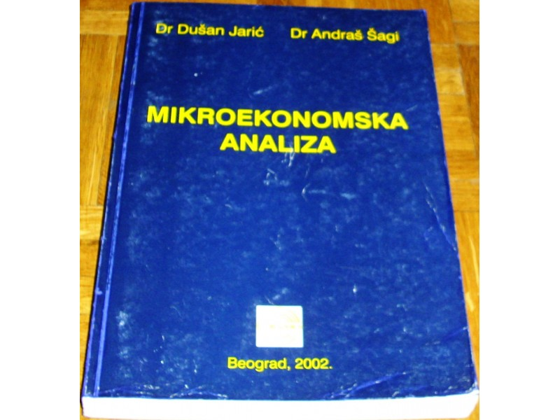 MIKROEKONOMSKA ANALIZA - Dr Dušan Jarić