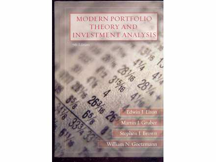 MODERN PORTFILIO THEORY AND INVESTMENT ANALYSIS