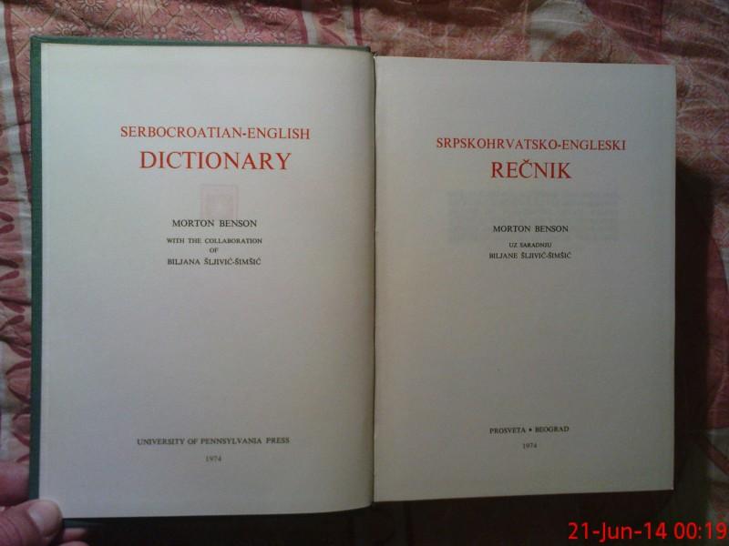 MORTON BENSON - SRPSKOHRVATSKI - ENGLESKI RECNIK