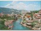 MOSTAR / Stari most 1967. - pre rušenja hrvatskih Zengi