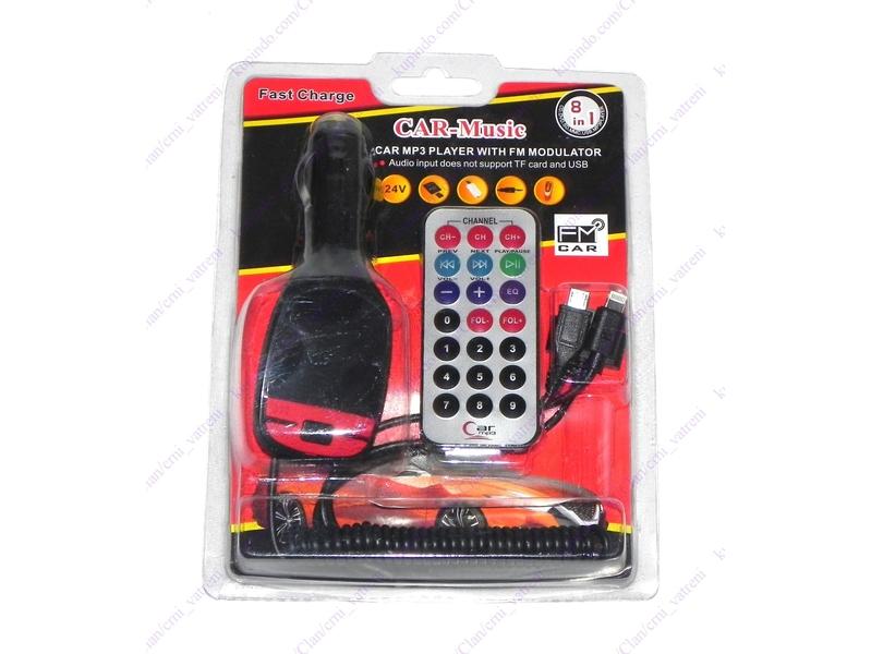 MP3 FM transmiter + punjac 2 + BESPL DOST. ZA 3 ART.