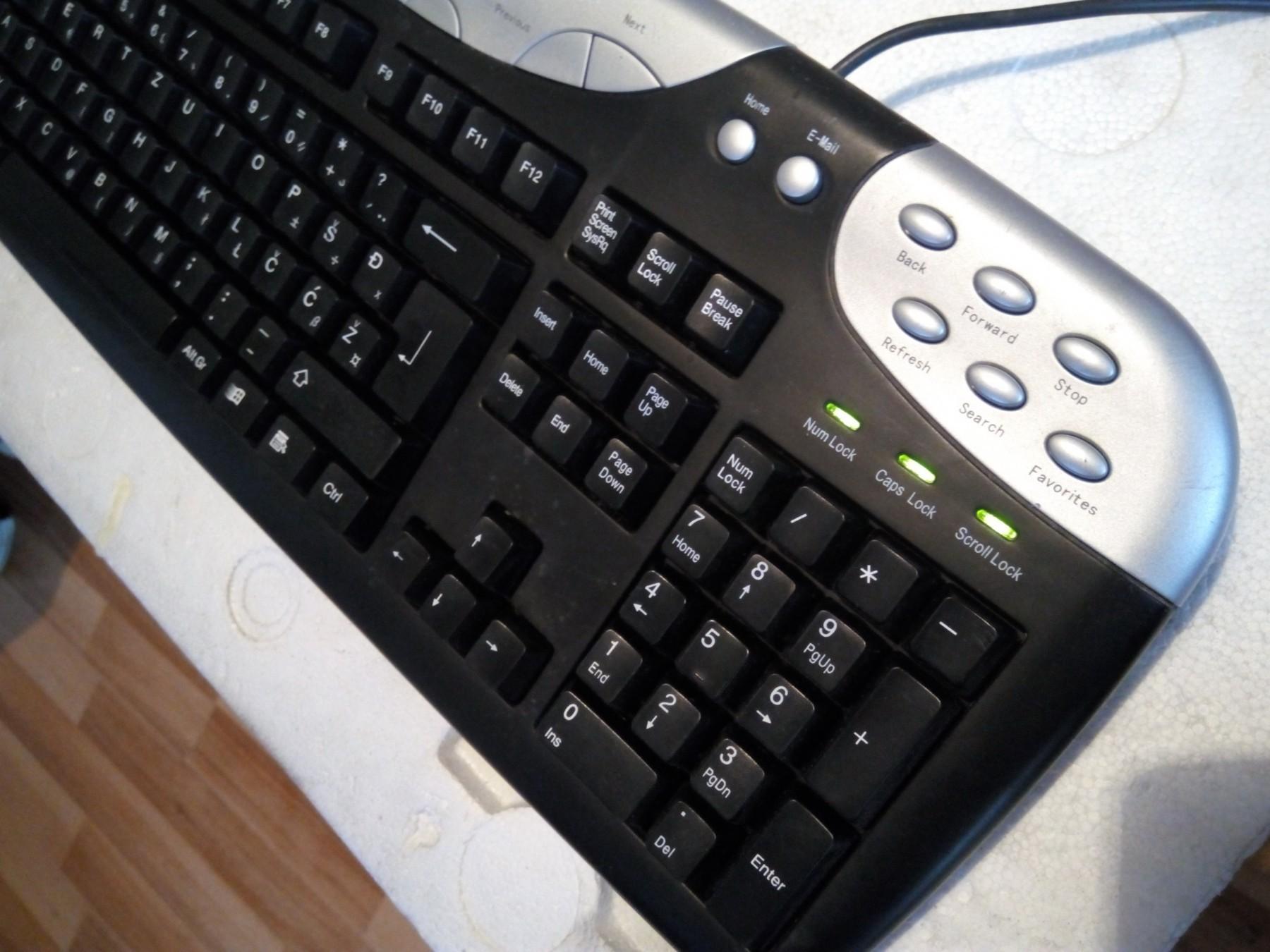MS Industrial KB 2225 SRB YU PS 2 Tastatura