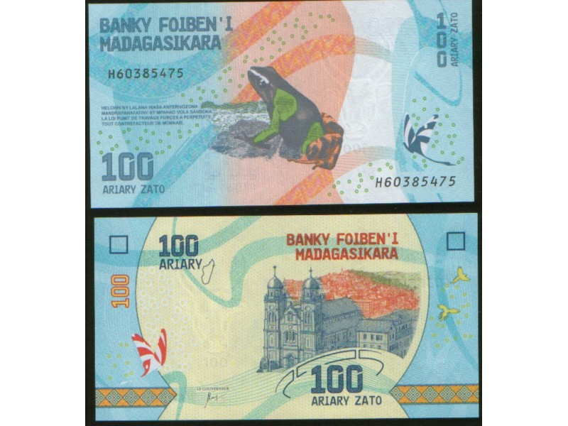 Madagascar 100 Ariary 2017. UNC