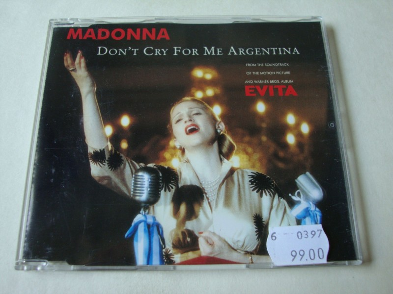 Madonna - Don`t Cry For Me Argentina