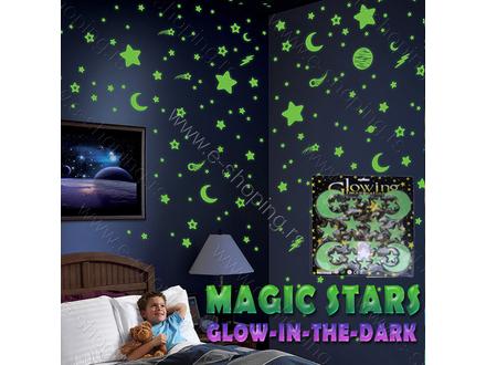 Magične zvezdice pvc svetleće blister-stiker