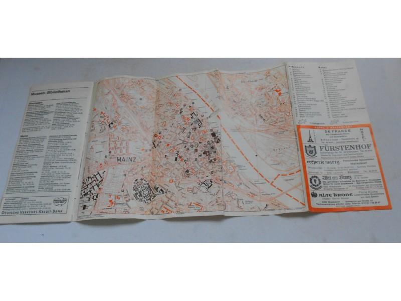 Mainz und Wiesbaden - mape i turističke informacije