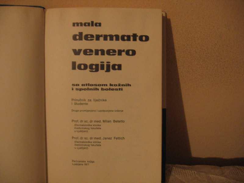 Mala Dematovenerologija - M. Betetto, J. Fettich