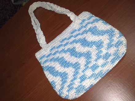 Mala sarena torbica - rucni rad