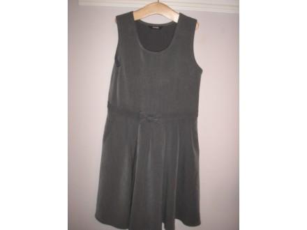 Mala siva haljina bez rukava za devojcice vel 7-8 g