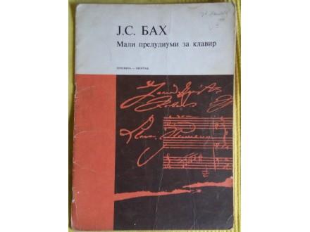 Mali preludiumi za klavir  J.S. Bach  (Bah)