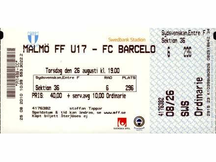 Malmo - Barcelona   ,   U17   ,   2010.god.
