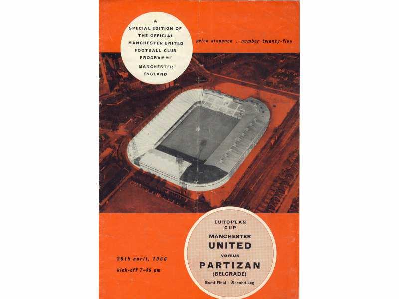 Manchester United - Partizan , polufiale KEŠ-a , 1966.