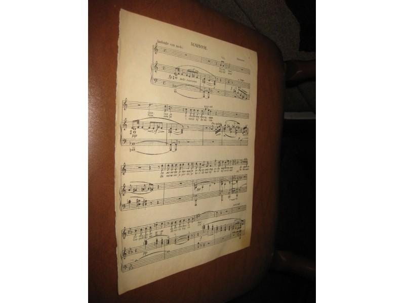 Manon - Massenet (Stare note1930-tih)